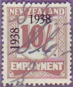 1938 - 39 Employment 10/- Red-Brown
