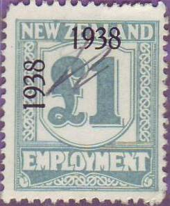 1938 - 39 Employment 1 Pound Pale Blue