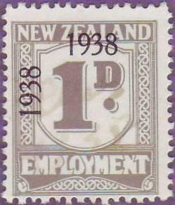 1938 - 39 Employment 1d Grey