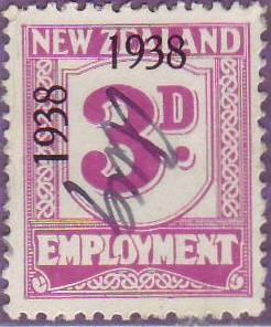 1938 - 39 Employment 3d Mauve