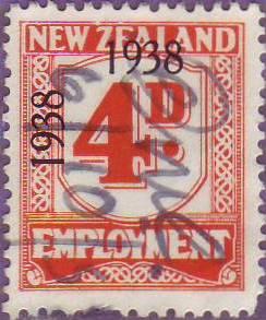 1938 - 39 Employment 4d Orange