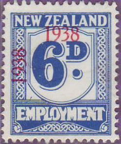 1938 - 39 Employment 6d Blue