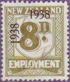 1938 - 39 Employment 8d Olive-Green