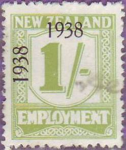 1938 - 39 Employment 1/- Yellow-Green
