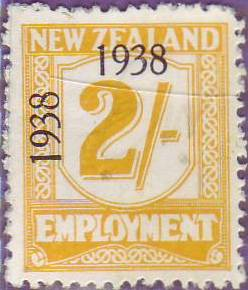 1938 - 39 Employment 2/- Yellow