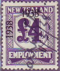 1938 - 39 Employment 4 Pounds Violet