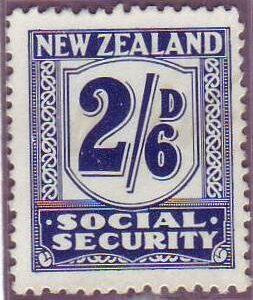 1939 Social Security 2/6 Indigo