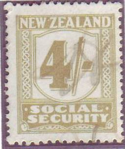 1939 Social Security 4/- Yellow-Olive