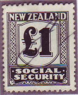 1939 Social Security 1 Pound Black