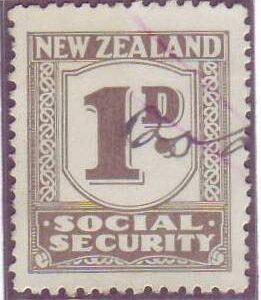 1939 Social Security 1d Grey