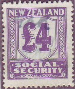 1939 Social Security 4 Pounds Violet