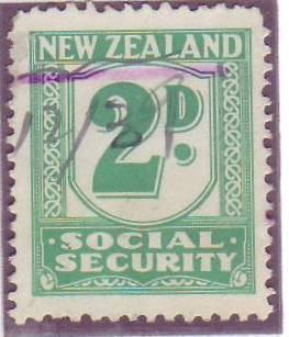 1939 Social Security 2d Blue-Green