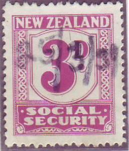 1939 Social Security 3d Mauve