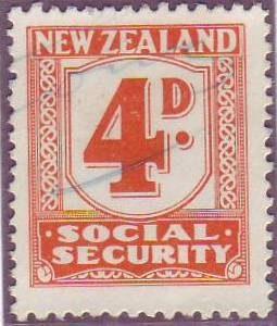 1939 Social Security 4d Orange