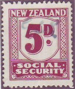 1939 Social Security 5d Plum