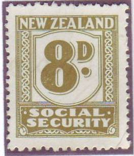1939 Social Security 8d Olive-Green