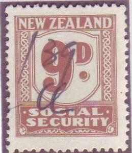 1939 Social Security 9d Pale Brown