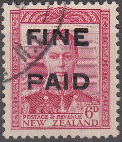 George VI 6d Red (Black Overprint)