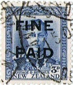 George VI 3d Blue (Black Overprint)