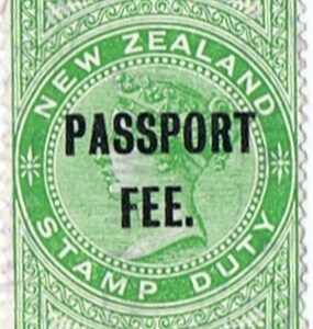 Passport Fee - 5/- Green (QV Longtype)