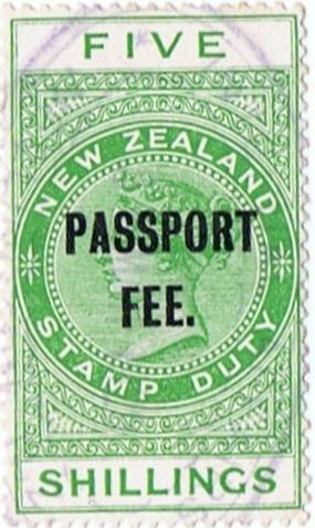 Passport Fee - 5/- Green (QV Longtype)