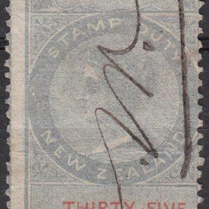 1 Pound 15/- (35/-) Grey & Red