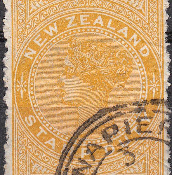 1887 (Long Type) 2/6 Orange-Yellow