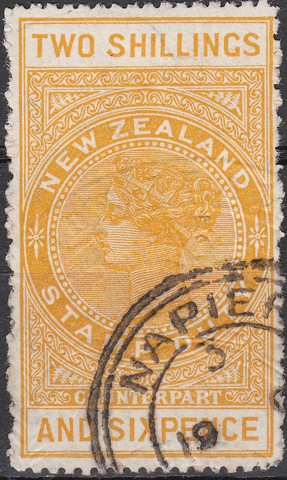 1887 (Long Type) 2/6 Orange-Yellow