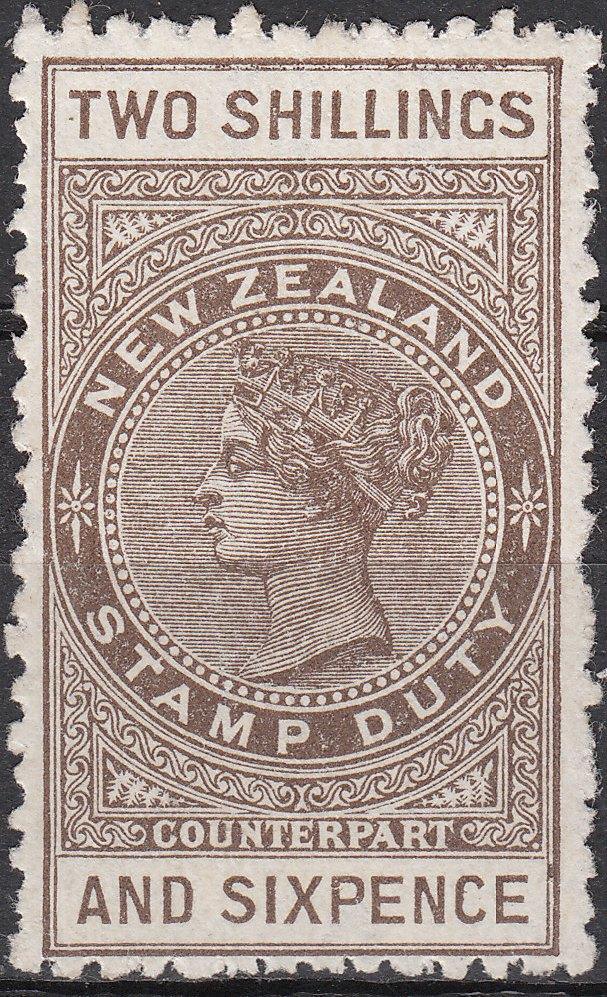 1887 (Long Type) 2/6 Brown - Colour Error