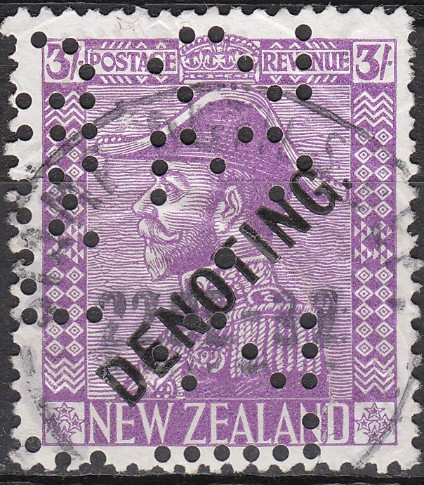 Denoting - 3/- Mauve George V