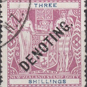 Denoting - 3/- Violet & Blue Arms