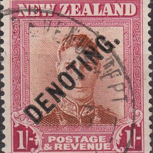 Denoting - 1/- Brown & Red George VI
