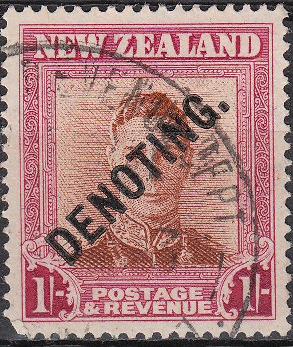 Denoting - 1/- Brown & Red George VI