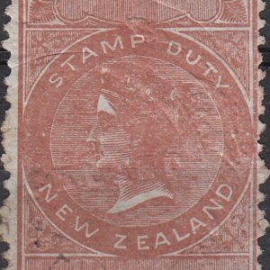 1868 No Value Brown & Blue (Die I)