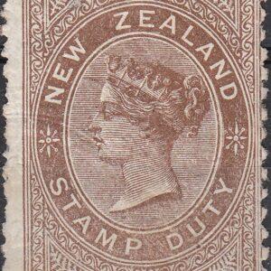 1888 No Value Brown (QV Longtype Design)