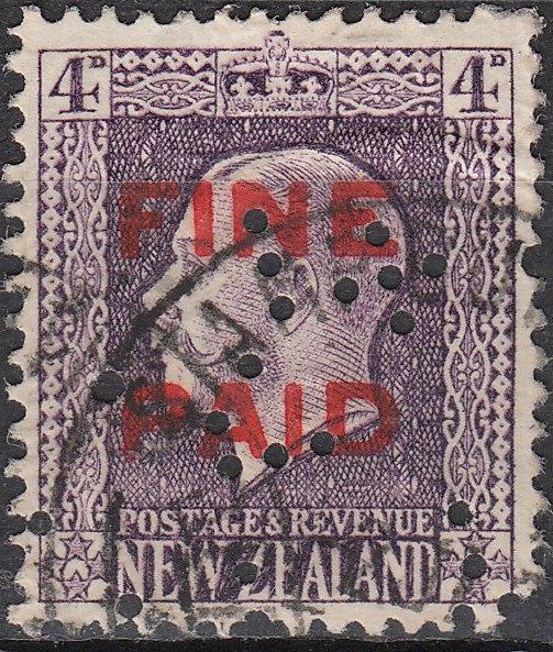 George V 4d Violet (Red Overprint)