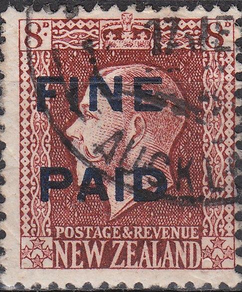 George V 8d Red-Brown (Blue Overprint)