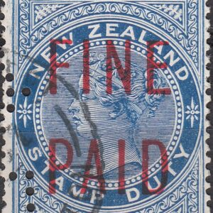 QVLT 2/- Blue (Red Overprint)