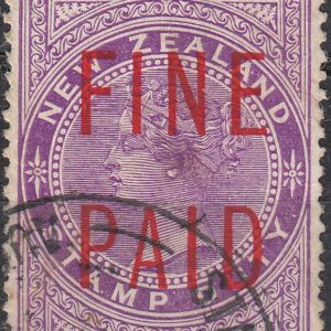 QVLT 3/- Mauve ( Red Overprint)