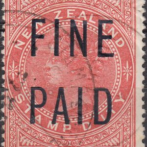 QVLT 4/- Red (Black Overprint)