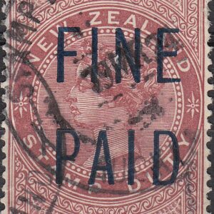 QVLT 10/- Red (Blue Overprint)