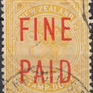QVLT 35/- Yellow (Red Overprint)