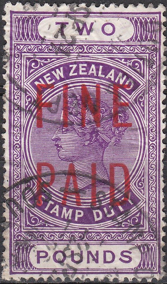 QVLT 2 Pounds Violet (Red Overprint)