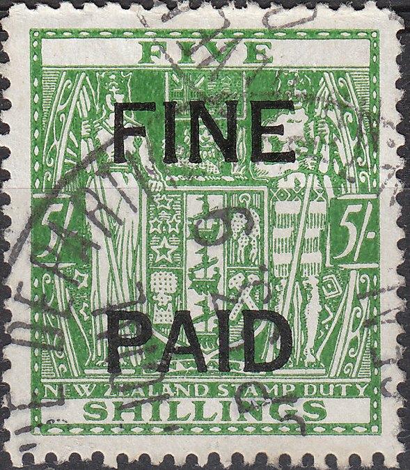 5/- Green (Black Overprint)