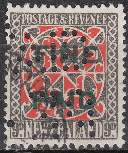 1935 Pictorials 9d Red and Grey (Green Overprint)