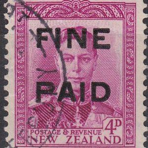 George VI 4d Purple-Red (Black Overprint)