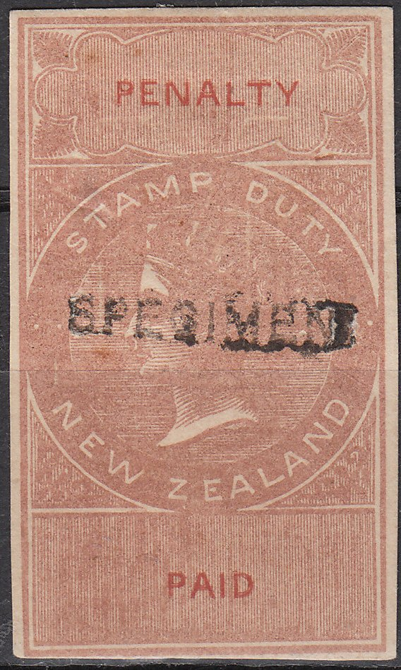 1874 - No Value Brown & Red