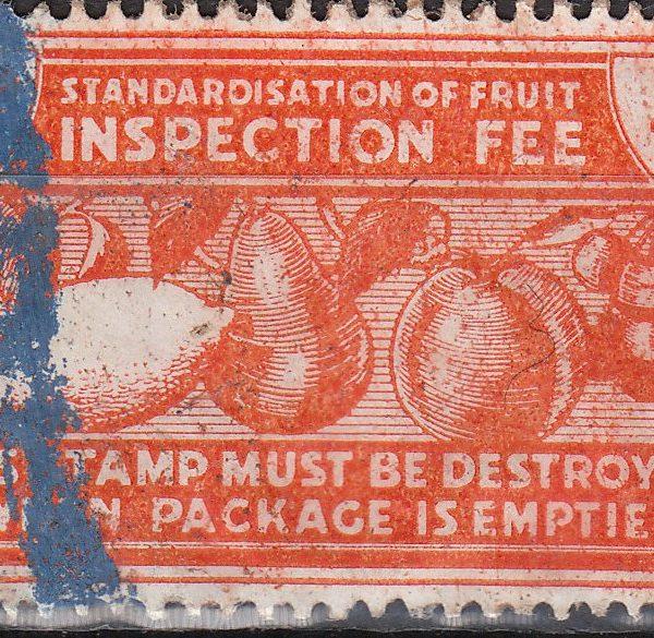 Fruit Inspection Fee - 1/4d Orange