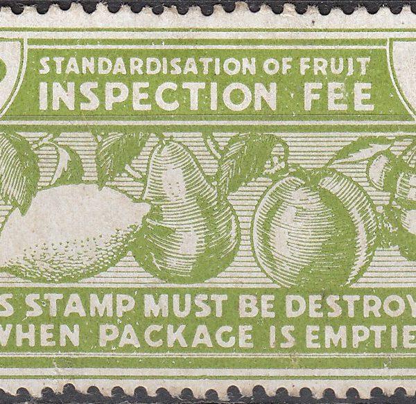 Fruit Inspection Fee - 1d Green