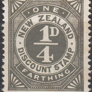 Discount Stamp - 1/4d Grey